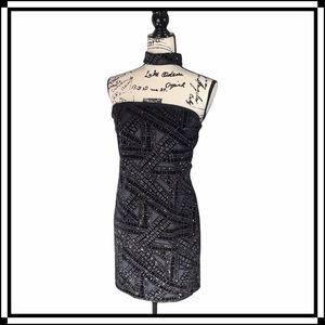 Boohoo Night Mini Halter Dress w/ Neck Accent 8